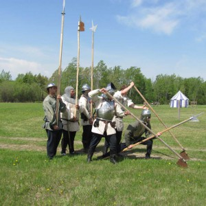 15th century soldiers, 15th century reenactment, historical reenactment, billmen