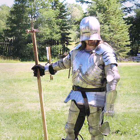 15th century mercenary, reenactment, historical