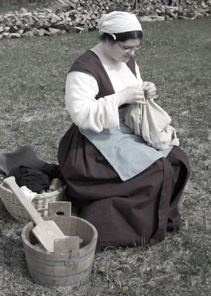 15th century, washerwoman