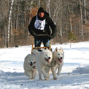 white oak sled dog race 2012, musher, ricq pattay, dog sled musher