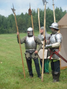 voulges, halberds, 15th century soldiers