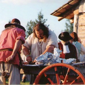 18th century reenactment, 18th century cooking