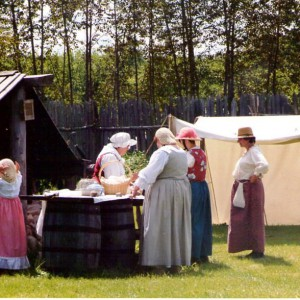 18th century history, rendevous, bread oven, deer river mn