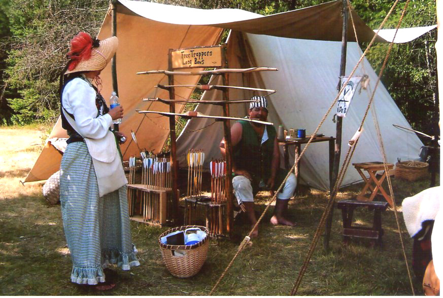 18th century reenactment, long bows, rendezvous mn