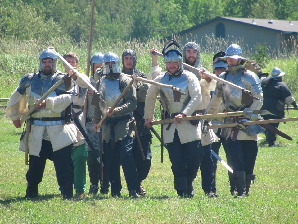 15th century mercenaries, 15th century reenactment, billmen