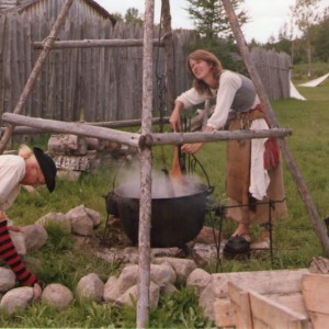 18th century fur trade reenactment