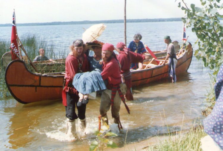 portage, bourgeois, 18th century reenactment